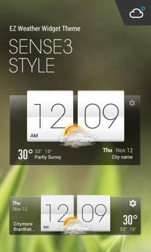HTC Sense Flip Clock & Weather截图3