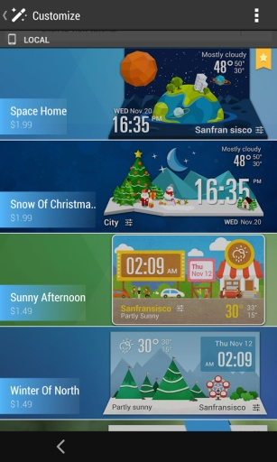 HTC Sense Flip Clock & Weather截图4