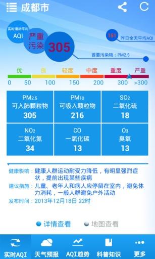 成都空气质量截图0