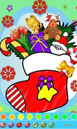 儿童画画填色涂鸦:圣诞节