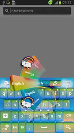 下载键盘主题卡通now及享受您的智能手机或平板显示器这些可爱的图形!