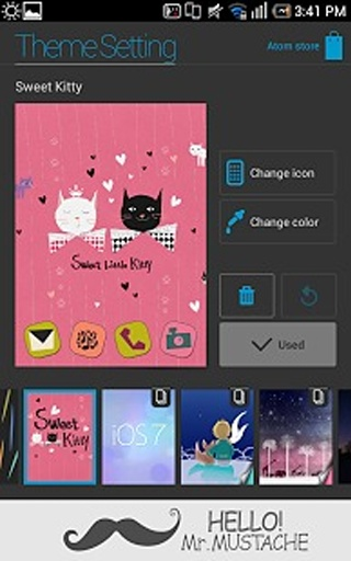 Sweet Kitty Atom Theme截图1