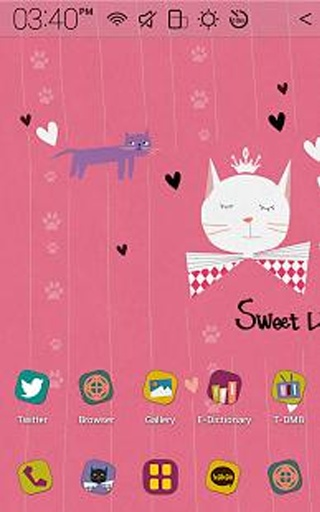 Sweet Kitty Atom Theme截图4