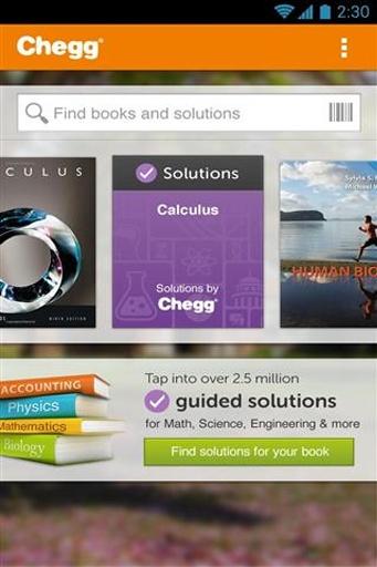电子课本和学习工具 Chegg eTextbooks &截图1