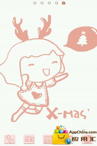 GO主题—圣诞粉粉女生截图3
