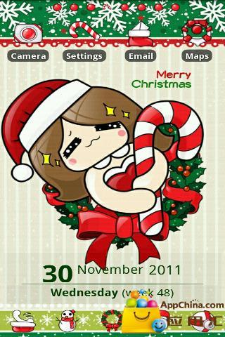 GO主题—圣诞女生