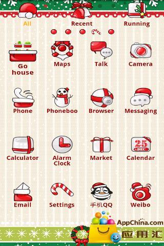 【免費工具App】GO主题—圣诞女生-APP點子