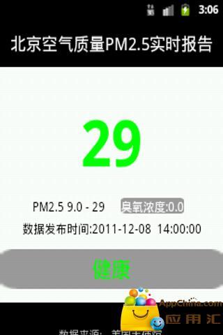 PM2.5实时监控截图0