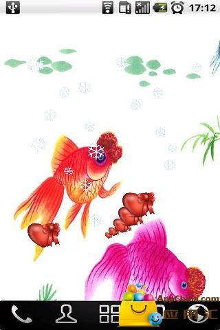 水墨画年年有鱼壁纸