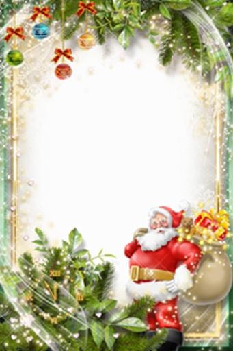 圣诞节和新年相框
