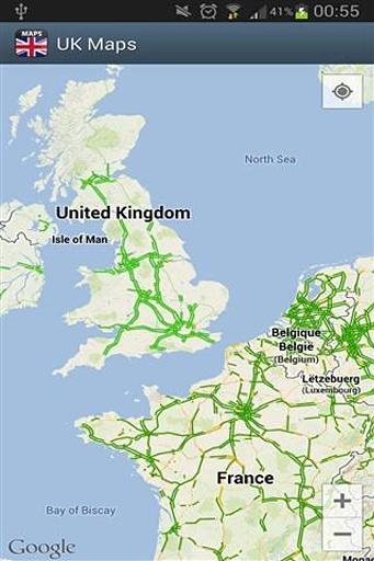 包含英国全图及城市地图