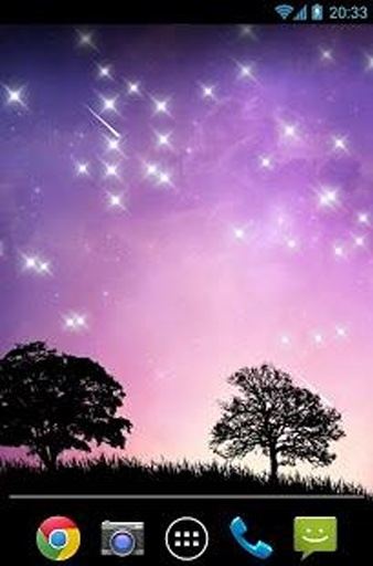 流星雨星空动态壁纸 10图片