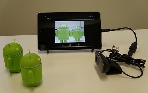 应用程序连接到智能手机或平板设备的usb摄像头