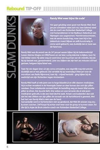 反弹是用英文写的一本杂志上来自荷兰的篮球