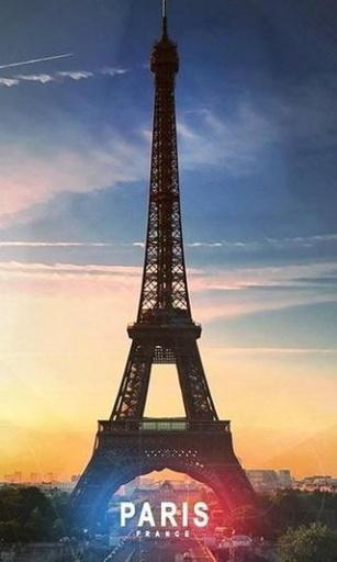 该动态壁纸收集了多张法国巴黎埃菲尔铁塔的高清图片