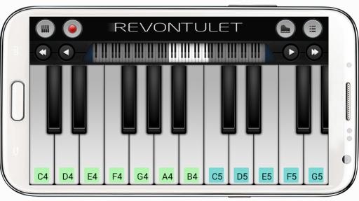 为智能手机设计的钢琴键盘模拟器