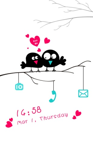 爱情鸟主题 桌面锁屏壁纸