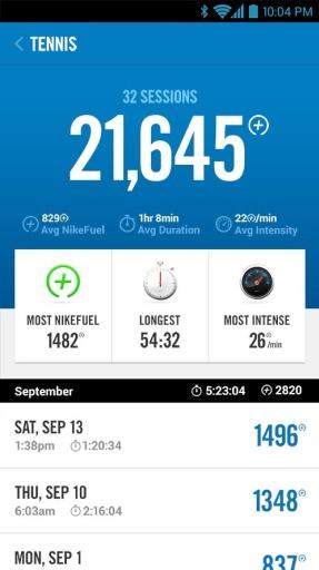 Nike+运动腕带截图2