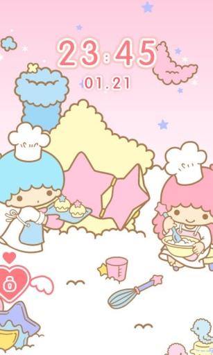 甜蜜双子星锁屏 爱情桌面主题壁纸