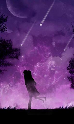 紫夜星空动态锁屏壁纸