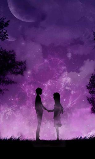 紫夜星空动态锁屏壁纸截图1