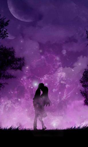 紫夜星空动态锁屏壁纸截图2