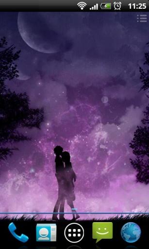 紫夜星空动态锁屏壁纸截图3