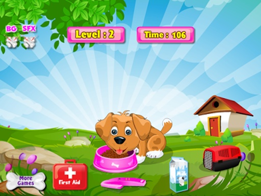 一天,小狗女孩游戏截图8
