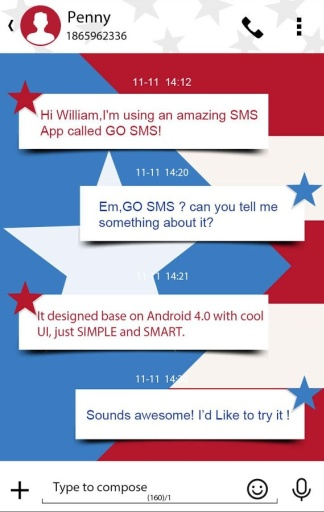 GO SMS PRO INDEPENDENCE THEME下载 GO SMS PRO INDEPE