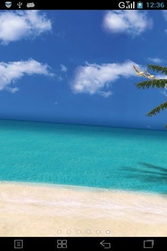 3D夏日海滩动态壁纸截图1