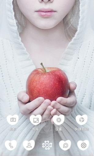 一颗苹果-3D立体主题桌面