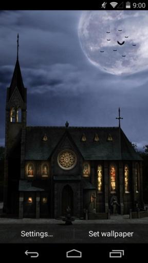 3D月下教堂-梦象动态壁纸
