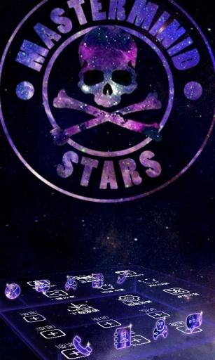 骷髅星空-3D桌面主题