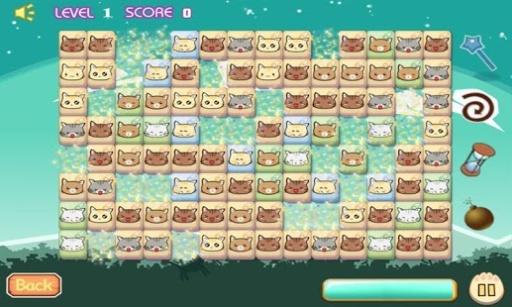 可爱猫咪连连看,这是一群可爱猫咪组成的连连看游戏,只需要你在规定的