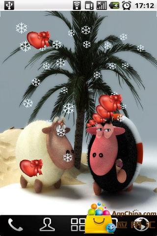 3D可爱卡通羊动态壁纸