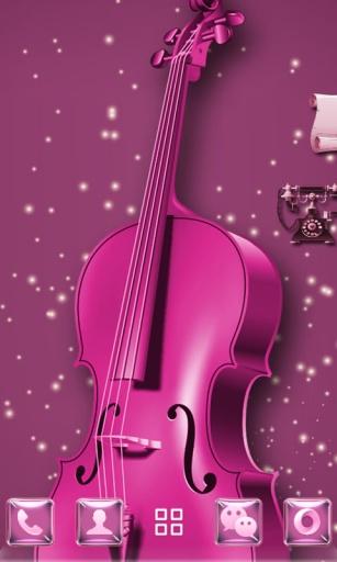 紫魅琴弦-3D桌面主题