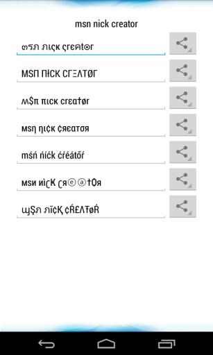 MSN Nick Creator