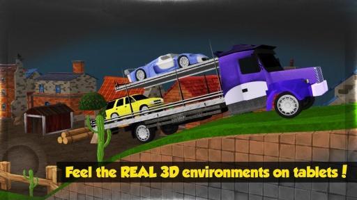 大卡车运小轿车3D截图2