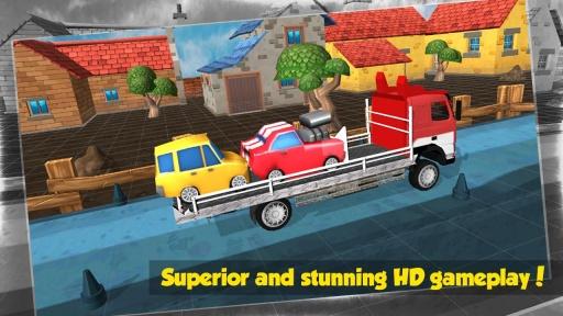大卡车运小轿车3D截图4
