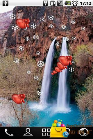 瀑布溪流动态壁纸