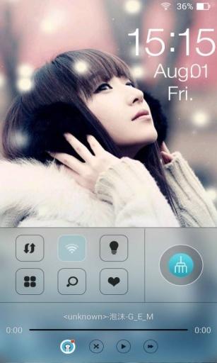 听歌的女孩主题桌面锁屏 個人化 App-癮科技App