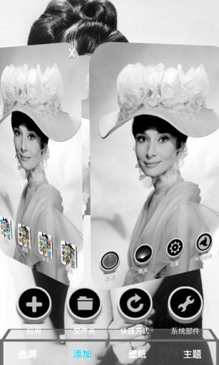 黑白畫映-3D桌面主題