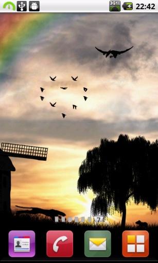 晨曦的风车动态壁纸 個人化 App-癮科技App