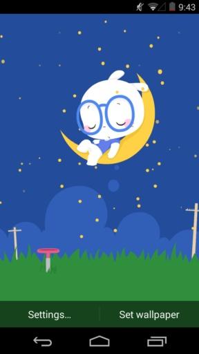 扑克兔之晚安-梦象动态壁纸 個人化 App-愛順發玩APP