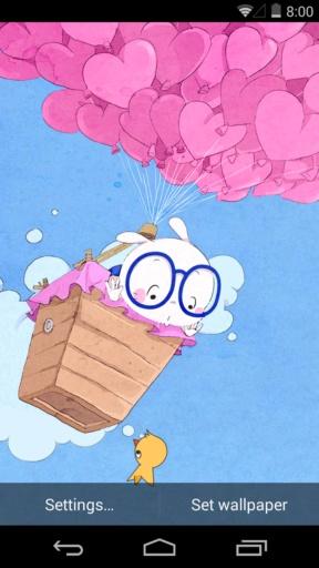 扑克兔之爱的气球-梦象动态壁纸截图2