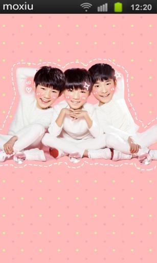 萌萌哒TFBOYS魔秀桌面主题截图2