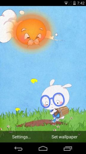 扑克兔之小桃种树-梦象动态壁纸