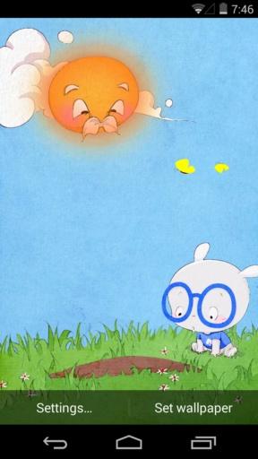 【免費個人化App】扑克兔之小桃种树-梦象动态壁纸-APP點子