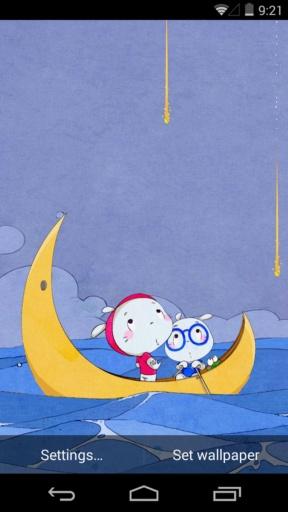 扑克兔之海上流星-梦象动态壁纸