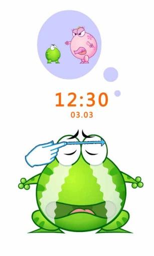 绿豆蛙的笑脸主题(桌面锁屏壁纸)